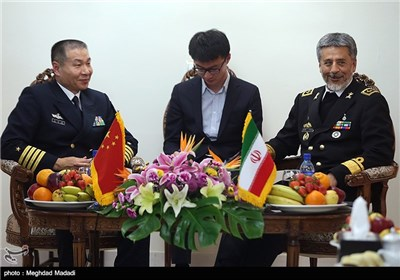 Chinese Military Delegation Meet Iran's Navy Commander