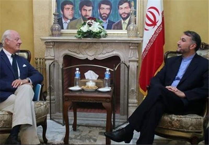 Iranian Deputy FM, UN Envoy Discuss Protracted Crisis in Syria