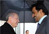 امیر قطر برای دیدار با اردوغان وارد ترکیه شد