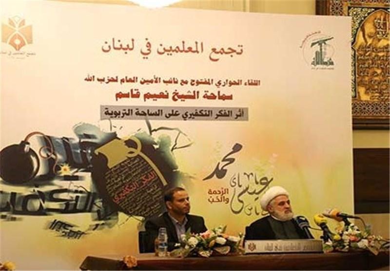 نعیم قاسم : المقاومة فی لبنان هزمت الارهاب الزمن الذی کانت السعودیة تقود فیه الدول قد انتهى