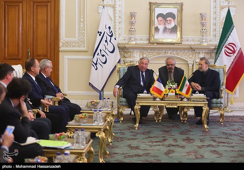 Iran's Speaker Meets with French Senate Leader in Tehran