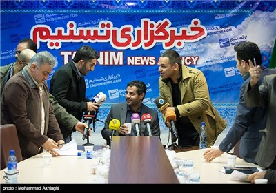 مؤتمر صحفی لـ محمد البخیتی فی وکالة تسنیم
