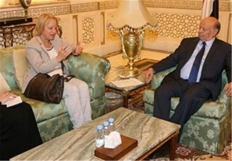 منصور هادی و السفیرة الاوروبیة