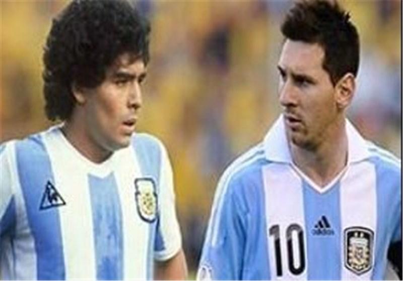 فیلم/مقایسه دیدنی مسی و مارادونا