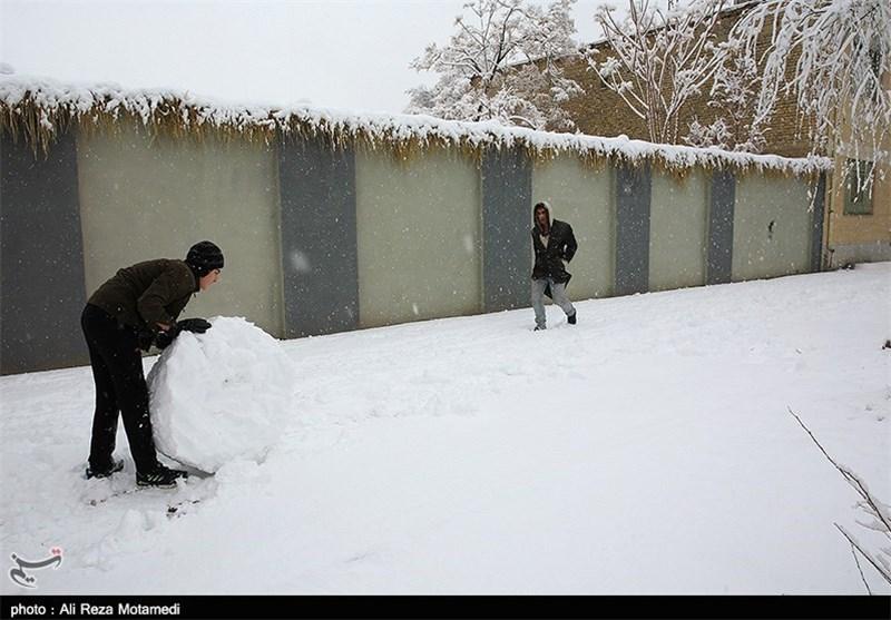 بارش برف در شهرکرد بهروایت تصویر