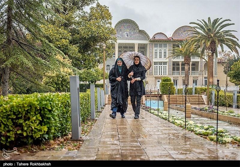 بارش باران در شیراز بهروایت تصویر