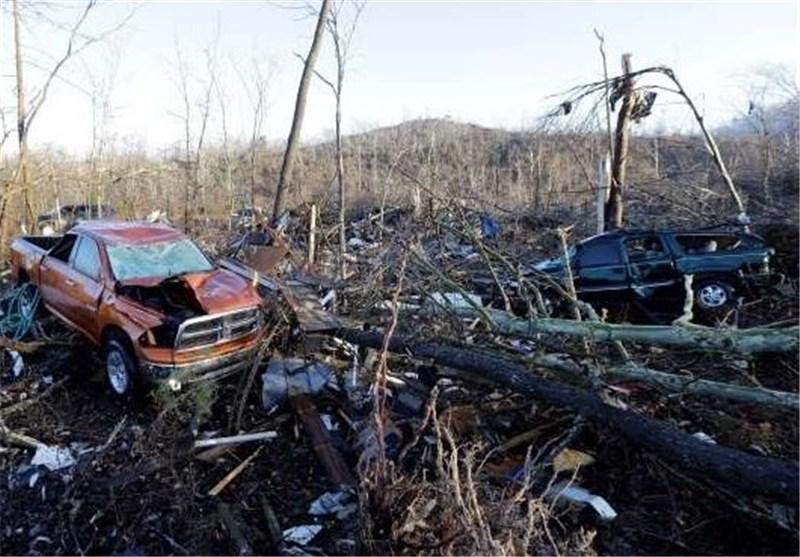 طوفان در کریسمس با جنوب آمریکا چه کرد؟ +تصاویر