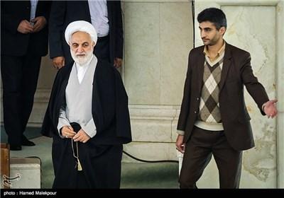 حجتالاسلام غلامحسین محسنی اژهای معاون اول قوه قضائیه در نماز جمعه تهران
