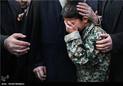 فرزند شهید مدافع حرم محسن فرامرزی