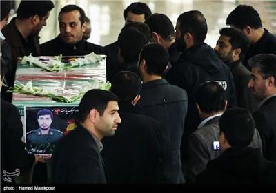 مراسم تشییع پیکر شهید مدافع حرم محسن فرامرزی - مصلی تهران