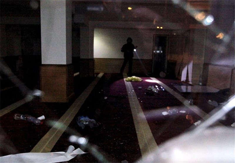 Group of attackers smashed the glass door of a Muslim prayer room and entered the place of worship, ransacking it and partially burning books including copies of the Koran