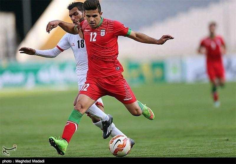 شاهین ثاقبی، تیم فوتبال امید ایران و فلسطین