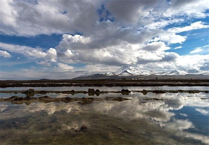 دریاچه ارومیه در زمستان