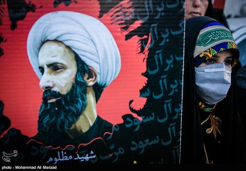 تجمع در اعتراض به اعدام شیخ نمر - میدان فلسطین