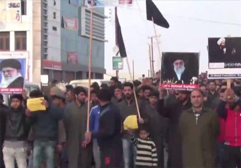 تظاهرات شعبیة ضد آل سعود فی ولایة کشمیر الهندیة وسط اعمال عنف + فیدیو