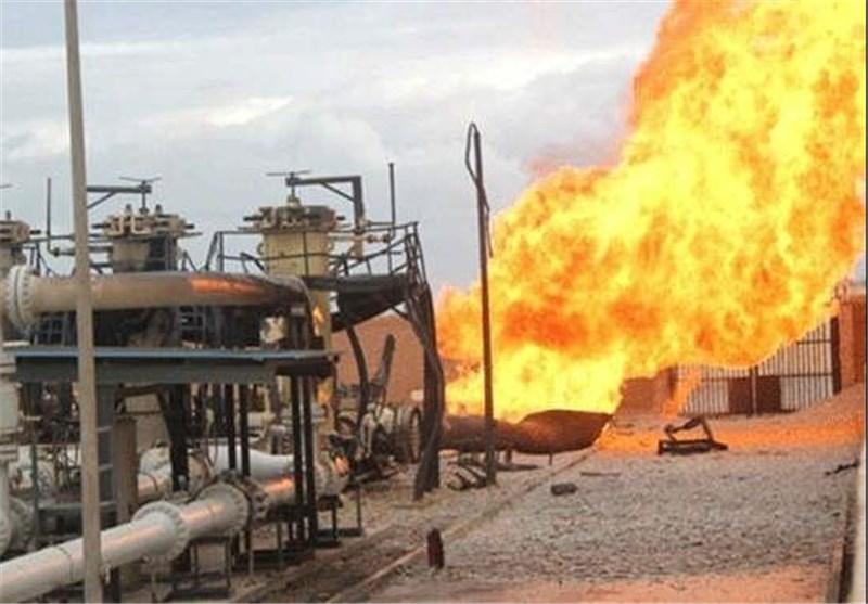 انفجار خط لوله گاز مصر