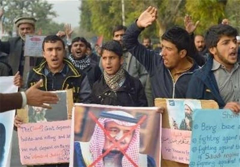 الشعب الباکستانی ینظم تظاهرة احتجاجا علی زیارة وزیر خارجیة السعودیة لباکستان