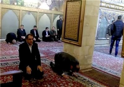 وزیر بهداشت در حرم حضرت زینب (س) و رقیه (س)