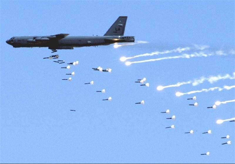 روسی لڑاکا طیاروں کی داعشی ٹھکانوں پر شدید بمباری