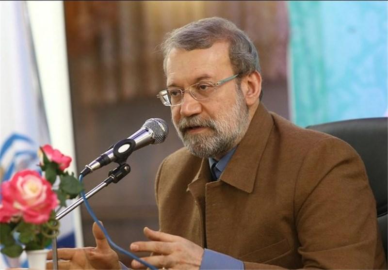 سخنرانی رئیس مجلس در مراسم راهپیمایی 22 بهمن مشهد مقدس