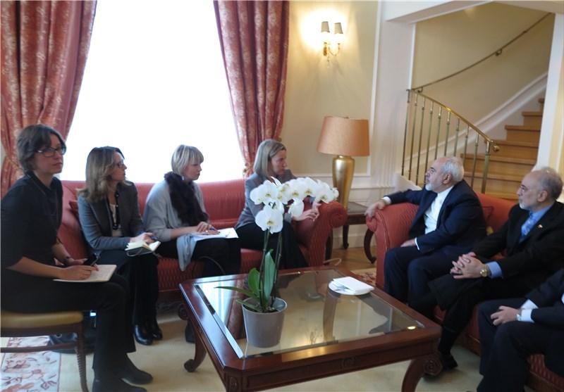 نشست مشترک ظریف با موگرینی و وزرای خارجه فرانسه، آلمان و انگلیس