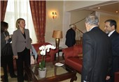 Iran's Zarif, EU's Mogherini Meet in Vienna (+Photos)