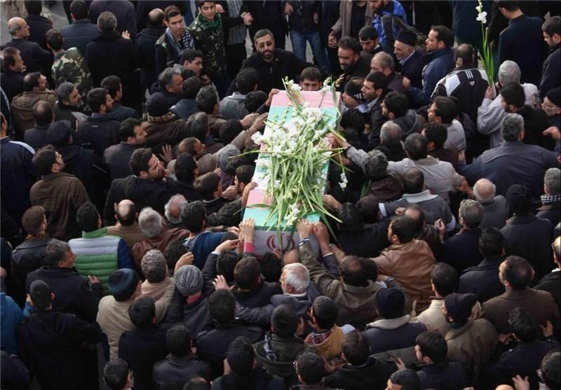 نتیجه تصویری برای تشییع شهید مدافع حرم