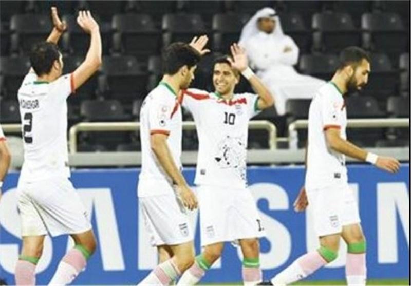 المنتخب الاولمبی الإیرانی لکرة القدم یهزم نظیره الصینی