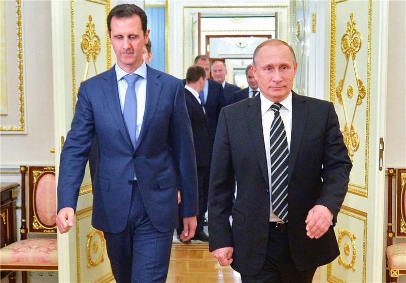 Image result for الرئيس السوري بشار الأسد، يجمع الرئيس الروسي فلاديمير بوتين