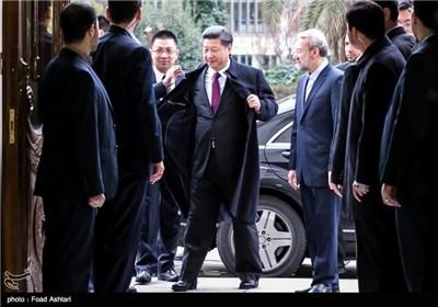دیدار رئیس جمهور چین با علی لاریجانی
