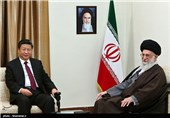 رئیسجمهور چین با امام خامنهای دیدار کرد