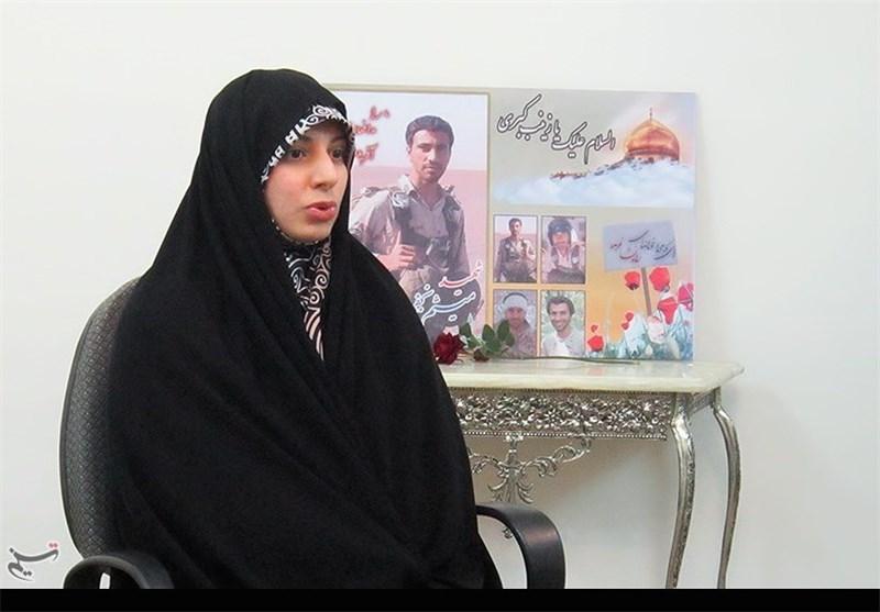 همسر شهید میثم نجفی