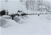 اردبیل| بارش برف در سرعین به نیم متر رسید