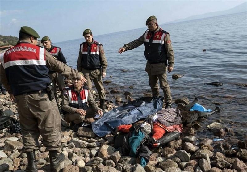 غرق شدن مهاجران نزدیک سواحل ترکیه 1