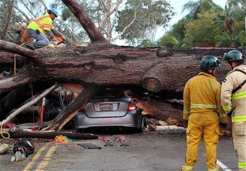 طوفان در کالیفرنیا
