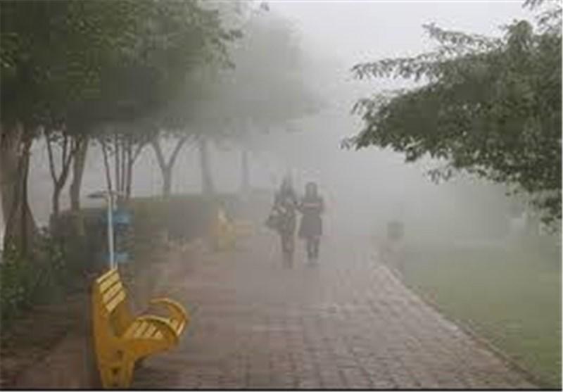 هوای امروز اهواز؛ مه غلیظ پاییزی بر فراز کارون + فیلم