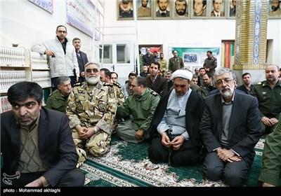 حضور غلامعلی حدادعادل و امیر پوردستان در مراسم تشییع پیکر امیر سرلشکر محمد سلیمی