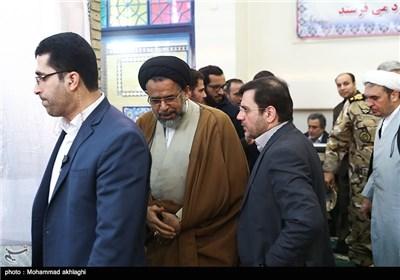 ورود سیدمحمود علوی وزیر اطلاعات به مراسم تشییع پیکر امیر سرلشکر محمد سلیمی