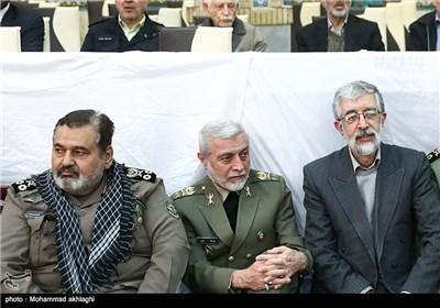 حضور امیر سرلشکر عطاءالله صالحی فرمانده کل ارتش در مراسم تشییع پیکر امیر سرلشکر محمد سلیمی