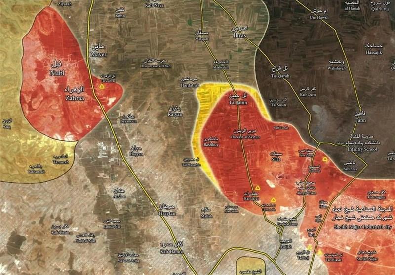 دستاوردهای ارتش سوریه پس از شکست حصر نبل و الزهراء