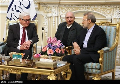 Germany's Steinmeier Meets with Iran's Speaker Larijani