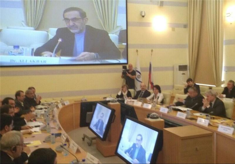 ولایتی در کنفرانس همکاری ایران و روسیه در ژئوپلتیک معاصر در مسکو