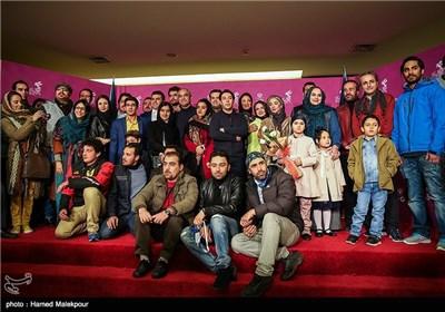 فرش قرمز فیلم سینمایی نفس به کارگردانی نرگس آبیار در چهارمین روز سی و چهارمین جشنواره فیلم فجر - برج میلاد