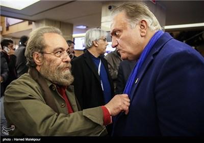 علی معلم و مسعود فراستی در چهارمین روز سی و چهارمین جشنواره فیلم فجر - برج میلاد