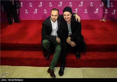 جواد عزتی و احمد مهرانفر بازیگران فیلم سینمایی زاپاس در چهارمین روز سی و چهارمین جشنواره فیلم فجر - برج میلاد