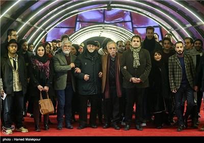 فرش قرمز فیلم سینمایی لانتوری در چهارمین روز سی و چهارمین جشنواره فیلم فجر - برج میلاد