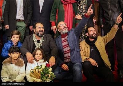 فرش قرمز فیلم سینمایی زاپاس در چهارمین روز سی و چهارمین جشنواره فیلم فجر - برج میلاد