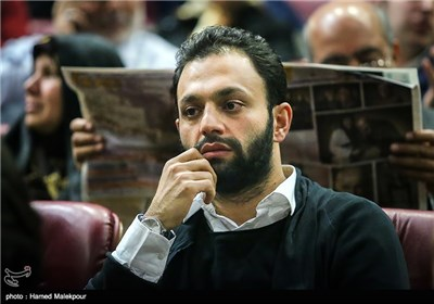 صابر ابر در سالن نمایش فیلم سینمایی نفس در چهارمین روز سی و چهارمین جشنواره فیلم فجر - برج میلاد