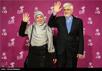 حضور محمدرضا عارف و همسرش در چهارمین روز سی و چهارمین جشنواره فیلم فجر - برج میلاد