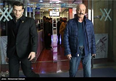 سعید راد بازیگر سینما در پایان مراسم فرش قرمز و اکران فیلم سینمایی کفش های من کو؟
